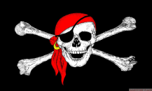 PIRATE BANDANA - 8 X 5 FLAG